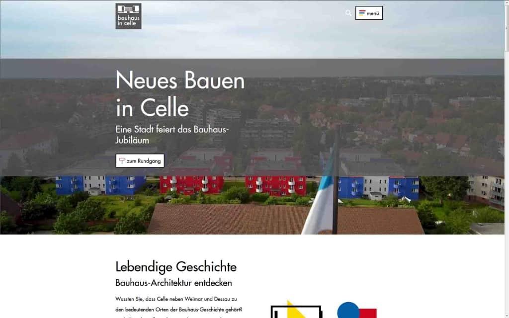 Die neue Website www.neuesbauen-celle.de informiert ab sofort über alles rund um das Thema Neues Bauen und Bauhaus in Celle sowie den Ausnahmearchitekten otto haesler Copyright: Celle Tourismus und Marketing GmbH