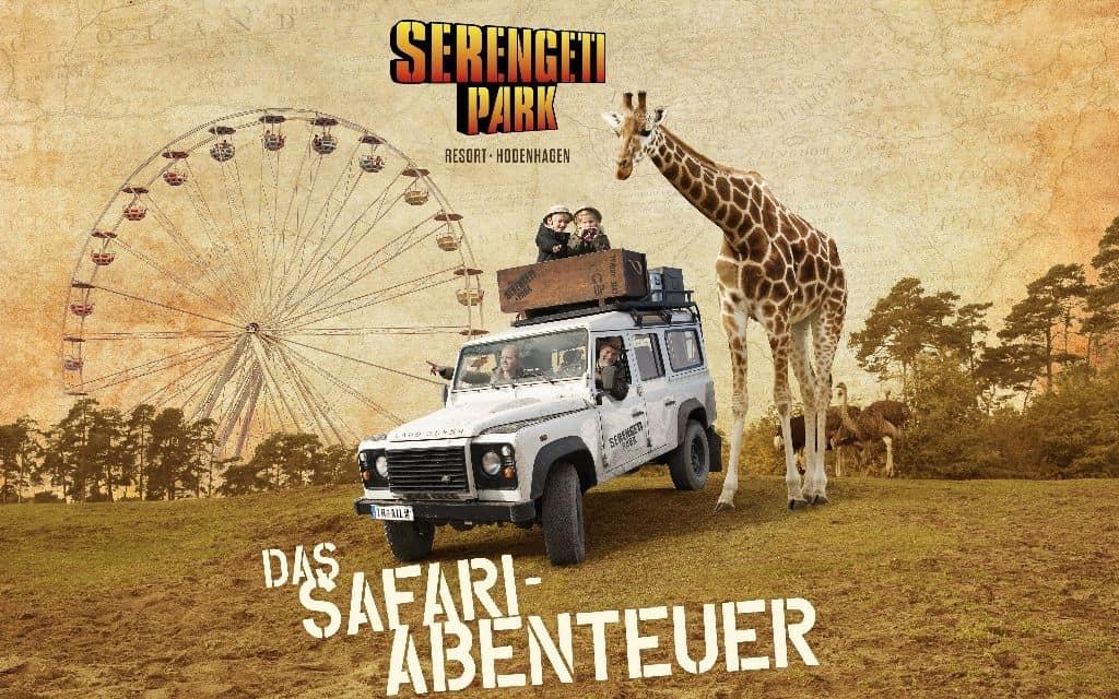 Werbebild Serengeti-Safari im Serengeti-Park Hodenhagen, Foto: Serengeti-Park