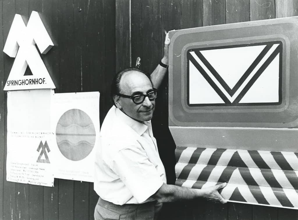 Galerist Wilm Falazik 1967 (Foto: Archiv Springhornhof)
