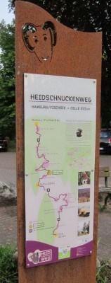 Heidschnuckenweg Übersichtstafel Streckenverlauf