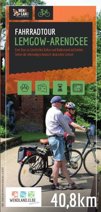 "Titel Flyer ""Fahrradtour Lemgow-Arendsee"""