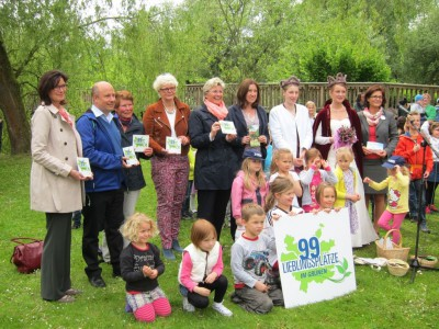 Übergabe der Plaketten an die 99 Lieblingsorte im Grünen im Heidekreis