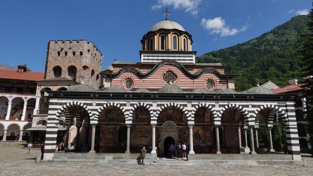 Unesco-Weltkulturerbe Kloster Rila mit der Klosterkirche