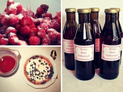 Roher Erdbeersaft nach dem Rezept von Uroma Änne