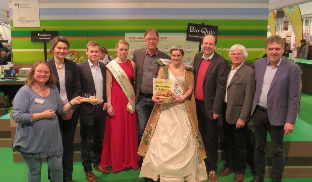 """Verkündung der """"Kartoffel des Jahres 2017"""" auf der Grünen Woche, Foto: m&p / honorarfrei"""