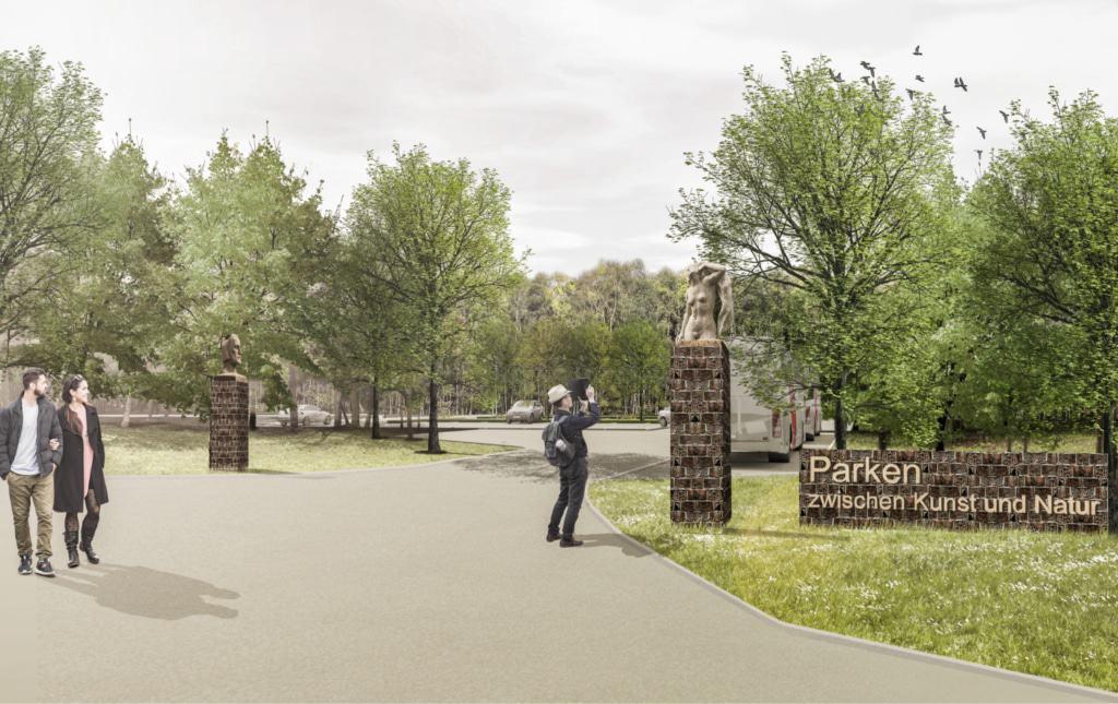 """Visualisierung: Eingang Kunst""""Park""""Platz © Frenzel und Frenzel, Buxtehude"""