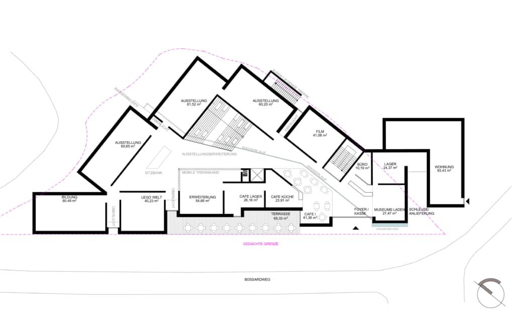 Visualisierung: Erdgeschoss der neuen Kunsthalle © Frenzel und Frenzel, Buxtehude