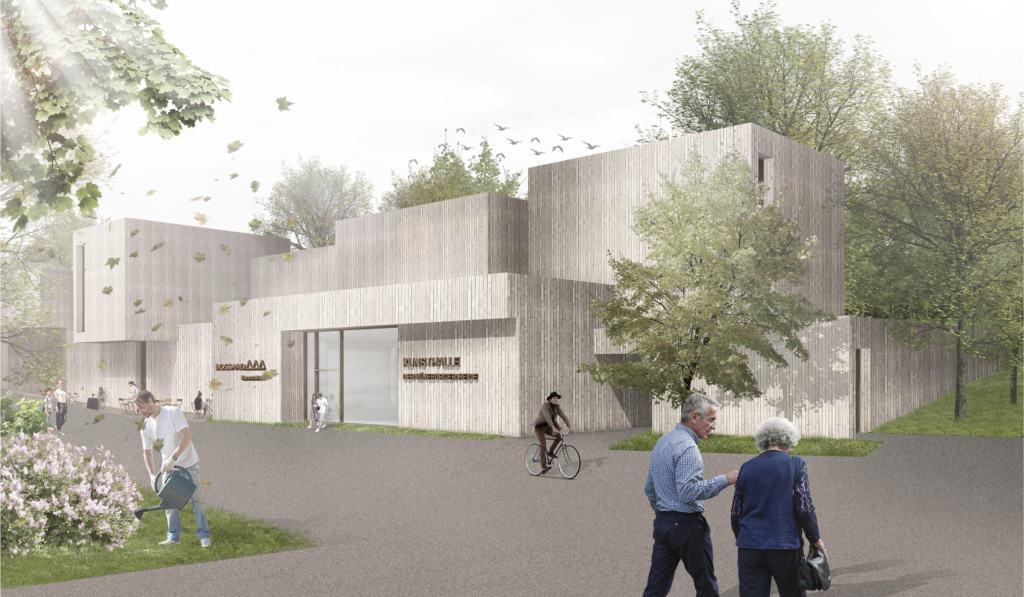 Visualisierung: Fassade der neuen Kunsthalle © Frenzel und Frenzel, Buxtehude