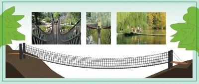 So wird die neue Hängebrücke im Barfußpark Egestorf aussehen. Quelle: Barfußpark Egestorf