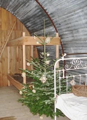 Weihnachten in Notzeiten– Nissenhütte im Freilichtmuseum am Kiekeberg, Bild FLMK