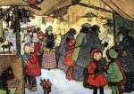 """Weihnachtsmärkte früher und heute in der neuen Ausstellung """"Budenzauber"""" im Freilichtmuseum am Kiekeberg Archiv: FLMK"""