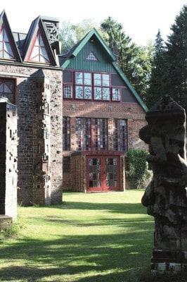 Nordseite des Wohn- und Atelierhauses, Foto: Kunststätte Bossard