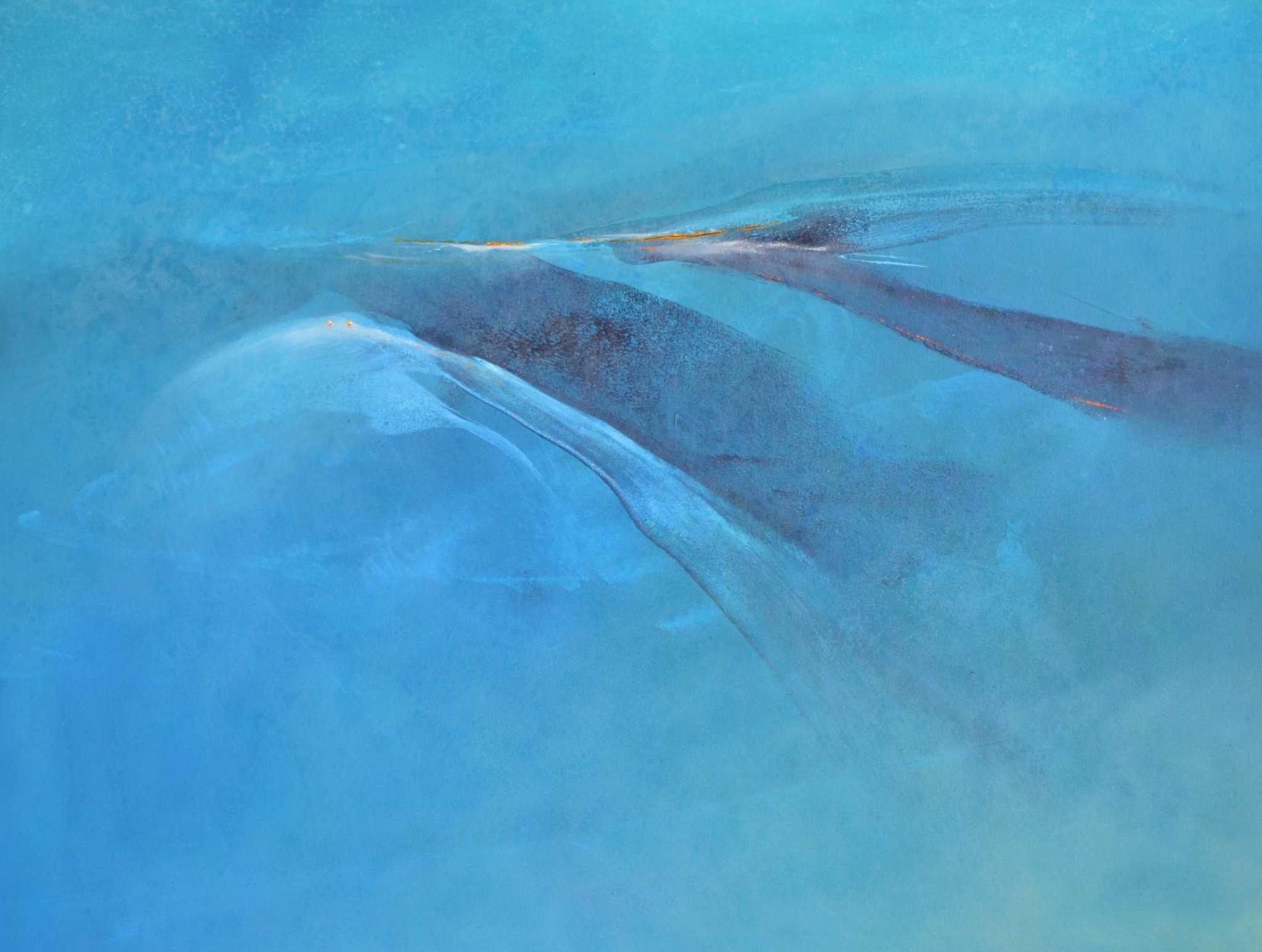 "Hinrich JW Schüler: ""AQUASPHERE"", Acryl/Baumwollsegeltuch, 120 cm x 130 cm"